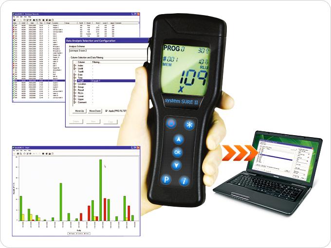 Возможности обработки результатов измерений люминометра SystemSURE II